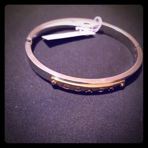 Coach Silver and Gold Tone Bracelet Bangle